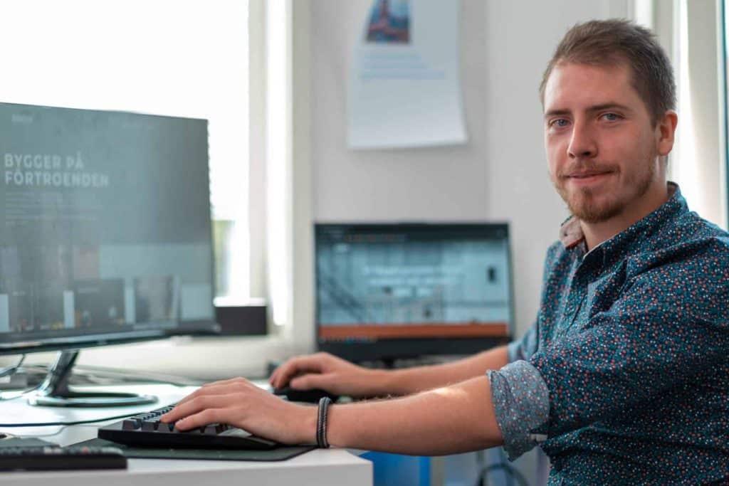 Anton Landström, Utvecklare/Designer, EZ Web